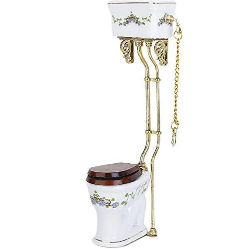 Potelin Dolls House Toilet Miniature Bathroom Toilet, used for sale  Delivered anywhere in USA