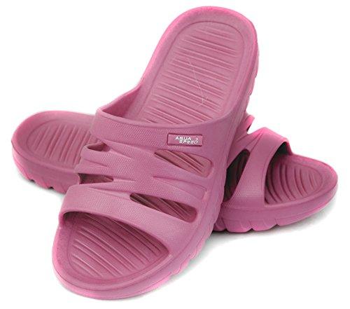 AQUA-SPEED Vena Damas zapatillas/con suela antideslizante rosa