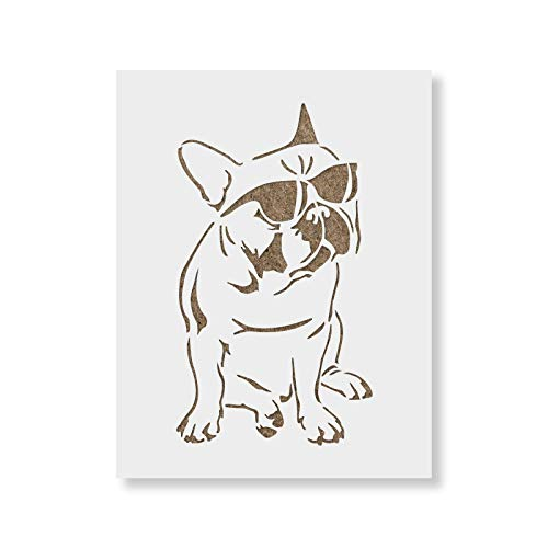 French Bulldog Stencil Template for Walls and Crafts - Reusable Stencils for Painting in Small & Large Sizes