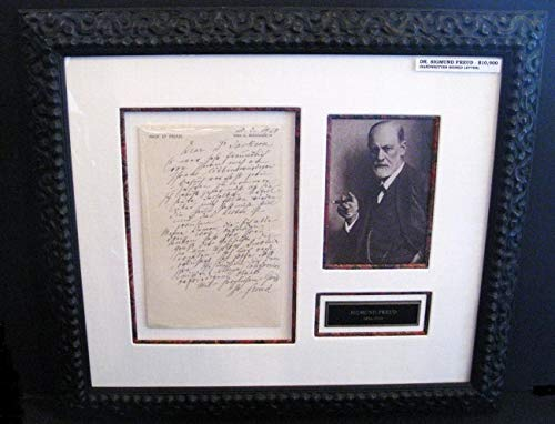 (Dr. Sigmund Freud Handwritten and Signed Letter [historic document]. PSA/DNA Letter of Authenticity.)