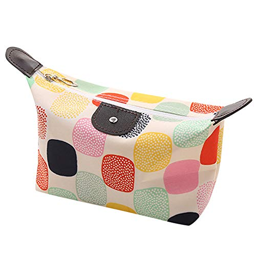 Peacur Women Multifunction Travel Make Up Cosmetic Pouch Bag Ladies Fashion Waterproof Printed Wash Bag (A)
