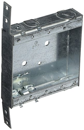 Hubbell-Raco 418 1-Inch Deep Switch Electrical Box, Welded with Side Stud Bracket, (2) 1/2-Inch End Knockouts, (4) NMSC Cable Clamps, 4-Inch x 4-Inch (Boxes Shallow Electrical)