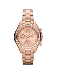 Fossil Women's Stainless Steel Analog Pink Dial Watch CH2826