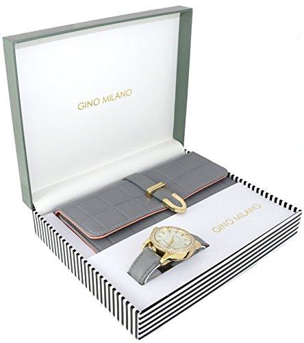 Women's Matching Watch & Wallet Gift Set - Grey