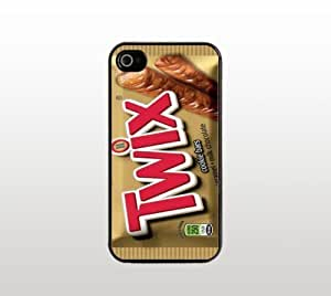 Twix Chocolate Bar iPhone 4 4s Case - Hard Plastic Snap-On Custom Cover - Black