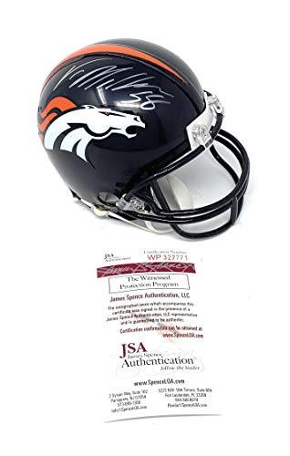 - Von Miller Denver Broncos Signed Autograph Mini Helmet JSA Witnessed Certified