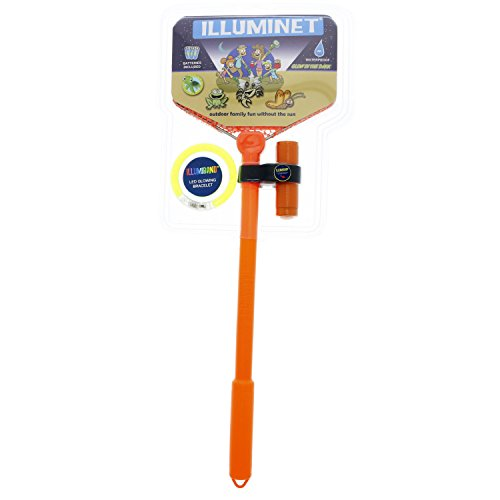 Illuminet Beach Toys for Kids: Ghost Crabbing Kit, Crab Net Beach Toy Nets, Bug Catcher Kit, Critter Catcher, Kids Fishing Net, Butterfly Net, Critter Toy - Orange