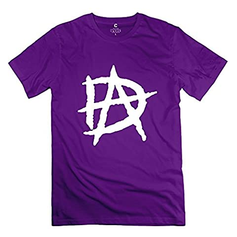 Funny RAW Champion Wrestler Dean Ambrose DA Logo Men's Tshirt Purple Size XL (Roku Purple)