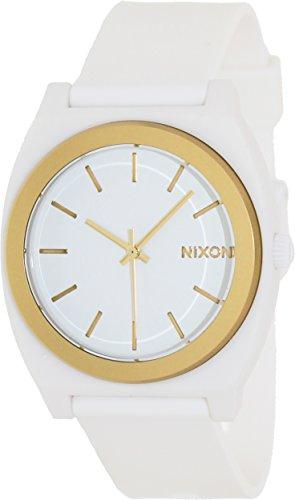 Nixon Time Teller P White Dial Polyurethane Strap Mens Watch A1191297