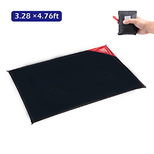 Azarxis Ultralight Mini Pocket Blanket Mat Ground Cloth Rain Fly Tent Tarp Footprint Shelter Sunshade Sand Free Waterproof Compact Portable Multifunction for Outdoor Picnic Camping Park Grass Backpack ()