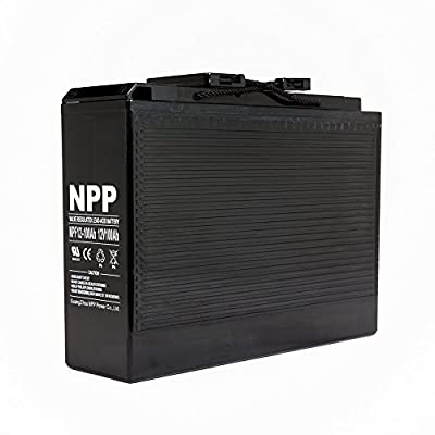 NPP 12V 100 Amp NPF12 100Ah Front Access Telecom Deep Cycle AGM Battery With Button Style Terminals