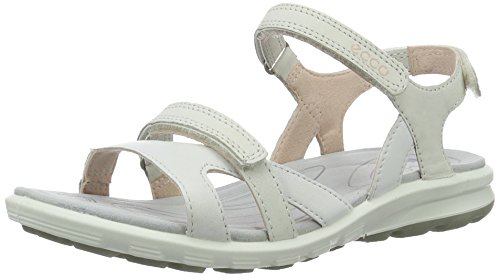 Ecco 841663, Sandalias Mujer Blanco (58336white/gravel)