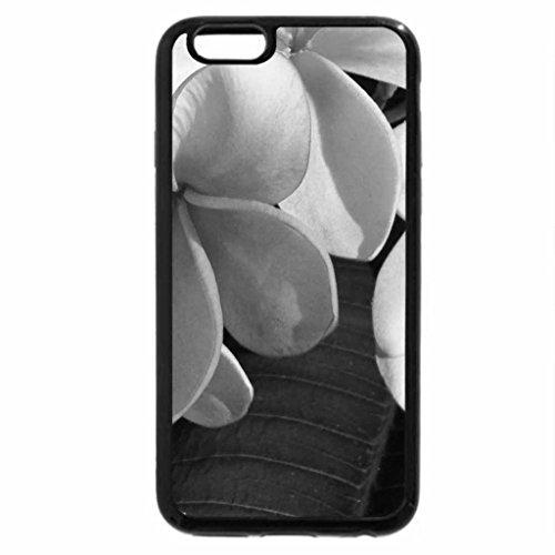 iPhone 6S Plus Case, iPhone 6 Plus Case (Black & White) - Plumeria