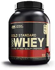 Optimum Nutrition ON Gold Standard Whey Protein Pulver, Eiweißpulver Muskelaufbau mit Glutamin und Aminosäuren, natürlich enthaltene BCAA, Vanilla Ice Cream, 73 Portionen, 2.27kg