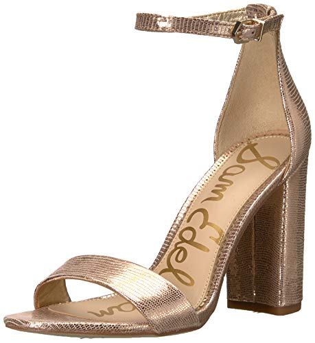 - Sam Edelman Women's Yaro Heeled Sandal, Blush Gold New Glamour Lizard Print, 7 M US