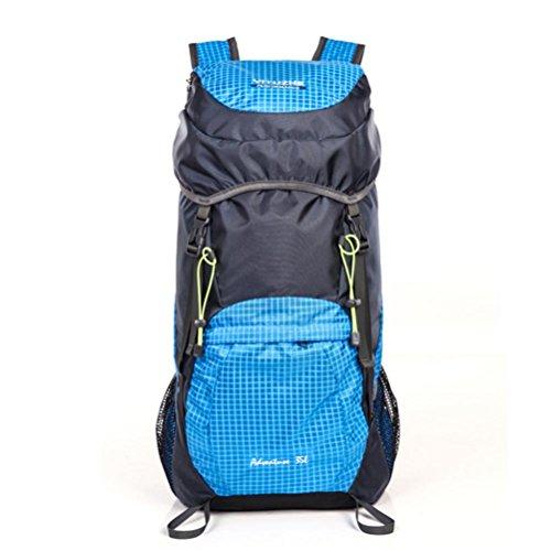 20-35L plegable hombres mochila y las mujeres de nylon impermeable escalada bolsa , ArmyGreen Sky Blue