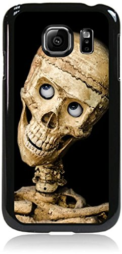 Smiling Skeleton- © TM Hard Black Plastic Snap On Case Compatible with the Samsung® Galaxy s7 EDGE Only (Not the Standard s7) Made in the U.S.A.