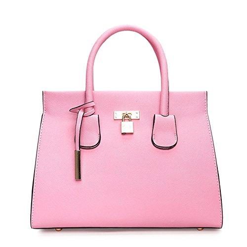 Sac Bandoulière À À Et Des Satchel Mode Noir Facile De GWQGZ Main Pink Sac Dames Simple Style À Nouveau La zx4vP