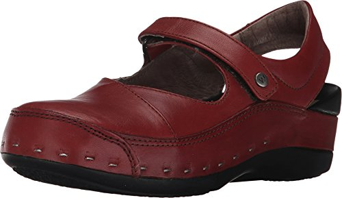 Wolky Women's Strap Cloggy Terracotta Vegi Leather 40 M EU / 8.5-9 B(M) - Comfort Clogs Red