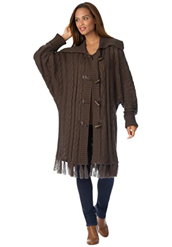 Jessica-London-Womens-Plus-Size-Fringe-Poncho