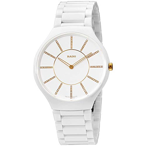 ساعت مچی مردانه Rado مدل True Thinline Jubile White Dial Ceramic کد R27957702