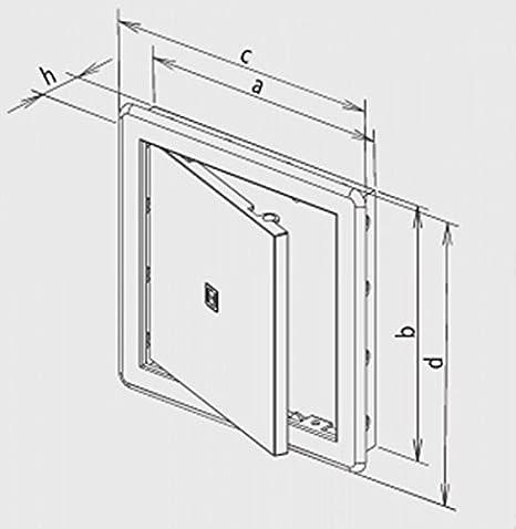 Haco - Tapa con puerta (300 x 400 mm, plástico ASA, con marco): Amazon.es: Bricolaje y herramientas