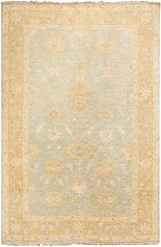 - Surya ATQ-1005 Hand Knotted Classic Accent Rug, 3-Feet 6-Inch by 5-Feet 6-Inch