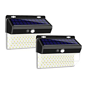 Enkman Solar Lights Outdoor 206Leds 3 Mode Wireless Motion Sensor Security Lights with Wide Angle IP65 Waterproof for…