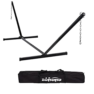 Zupapa Hammock Stand Fit for 12-15ft. Hammock, 2 Person Heavy Duty 550 LBS Capacity with 2 Steel Chains 1 Carry Bag