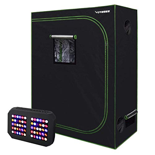 $145.99 indoor grow tent cheap VIVOSUN 48″ X24″ X 60″ Hydroponic Grow Tent + 300W LED Grow Light for Indoor Plants Veg and Flower 2019