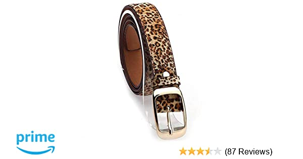 72590580992 Leopard Print Faux Leather Fashion Belt for Ladies