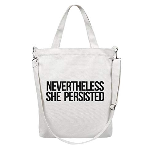 Women Tote Craft Bag Large Capacity Cloth Shopping Bag Nevertheless She Persisted Art Print Body Handbag Stylish Work Shoulder Bag Grocery Beach Tote Duck Bag Business Crossbody Bag