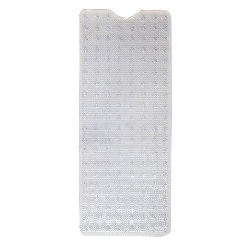 Waroom Home Non-Slip Bathtub and Shower Mat, Machine Washable Anti-Bacterial PVC Bath Mat, 40