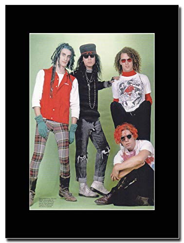 gasolinerainbows Janes Addiction - Chicago 1988 - Matted Mounted Magazine Promotional Artwork on a Black Mount