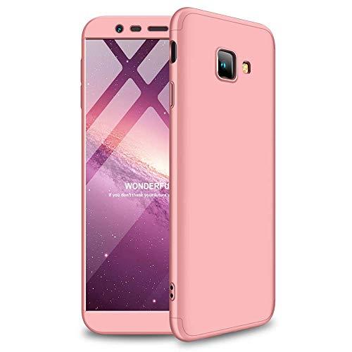 cmdkd Samsung Galaxy J4 Plus 2018 Funda, Bumper 3 en 1 Estructura 360 Grados Integral para Ambas Caras Hard Skin Carcasa + Cristal Templado para ...