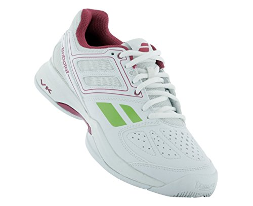 BABOLAT Pulsion BPM All Court Zapatilla de Tenis Señora Blanco/Rosa/Verde