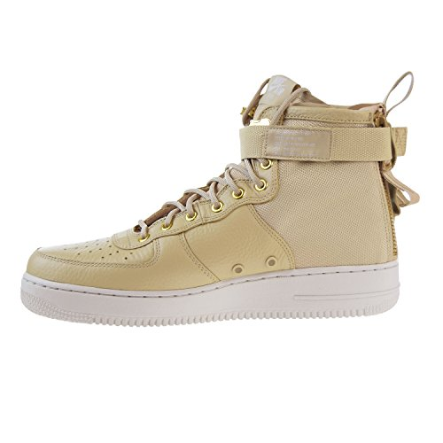 Nike Wmns SF Bone 101 1 Bianco Mushroom e in Scarpe Air 917753 Tessuto Mid Light Mushroom Uomo Pelle Force rHAnprxqw