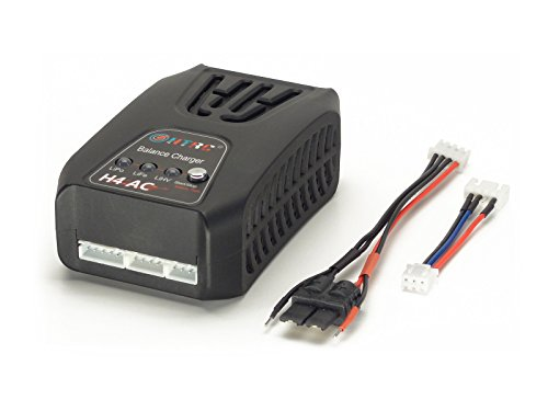 H4 AC TRAXXAS ID 2S/3S 2Amps, 20Watts LiPo Balancing Battery Charger w Traxxas ID Cable, Charges JST-XH 2S-4S LiFe LiHV Batteries, HT-0083, 7.4V 11.1V 14.8V 6.6V 9.9V 13.2V 7.6V 11.4V 15.2V + WARRANTY