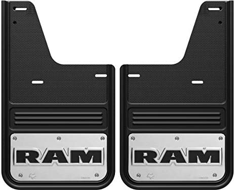 Truck Hardware Gatorback Mud Flaps with RAM Head Logo Without OEM Flares 2009-2018 RAM - Front Pair