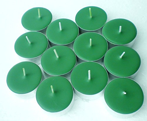 Spiced Green Tea Scent - 12 Pack North Woods Christmas Scented Soy Tealights Candles