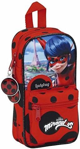 Ladybug Plumier Mochila con 4 Portatodos: Amazon.es: Juguetes y juegos