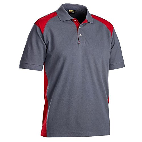 Blaklader 332410509456XS Polo-Shirt, Size XS, Grey/Red