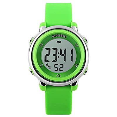 Kids Digital Sport Watch, Boys and Girls Sports Outdoor Watches, Girls LED Waterproof Electrical Watch with Alarm Children Stopwatch from SKMEI