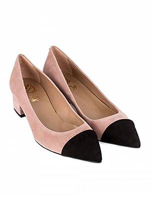 Zapatos Bicolor Punta Negra PERA LIMONERA - Color - Nude 41838be56b4b