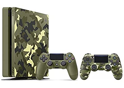 PlayStation 4 Slim Call of Duty WWII Bundle (2 Items): PS4 Slim 1TB Limited Edition Console - Call of Duty WWII Bundle and an Extra camouflage Controller