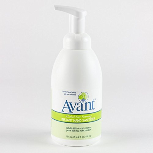 18 oz Pump Bottle - Avant Alcohol-Free Foaming Hand Sanitizer, Case of 6