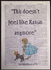 Wizard Of Oz Tin Man Heart Quote Vintage Dictionary Page Print Picture Wall Art