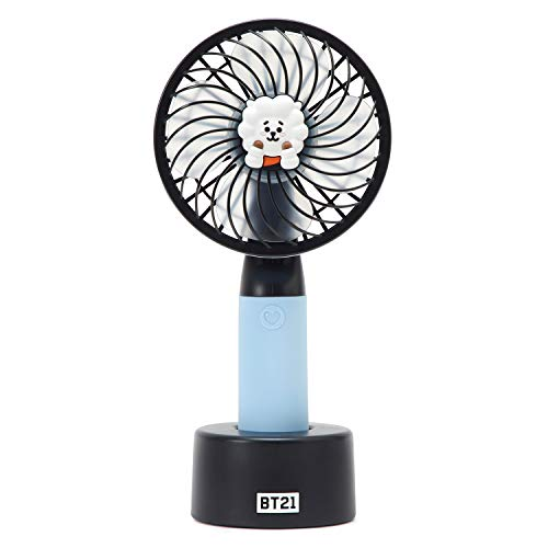 BT21 Official BTS Merchandise by Line Friends - RJ Character Mini Handheld Personal Portable Fan (Designed by Bangtan Boys) by BT21