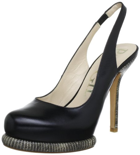 Paco Gil P-2480 Damen Pumps Schwarz (Black)