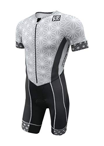 De Soto Forza Sleeved Triathlon Flisuit - 2019 - FFTS (Large, Graphite/Sparkle)